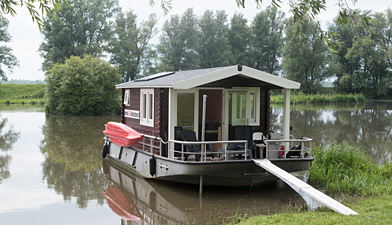 blokhutboot in de Biesbosch